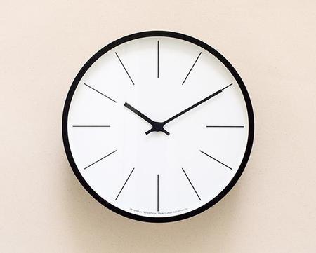 Lemnos Wall Clock - Black