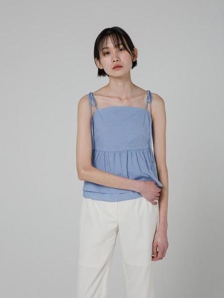 GRID SEOUL Shirring Layered Bustier - Blue