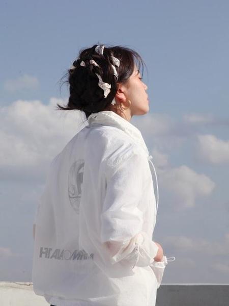 HALOMINIUM Ghost Windbreaker - White