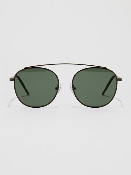 Unisex BVH Round Sunglasses - Black/Green