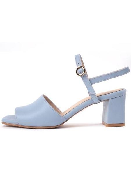 ATTITUDE;L Vin Slingback Sandals - Sky Blue