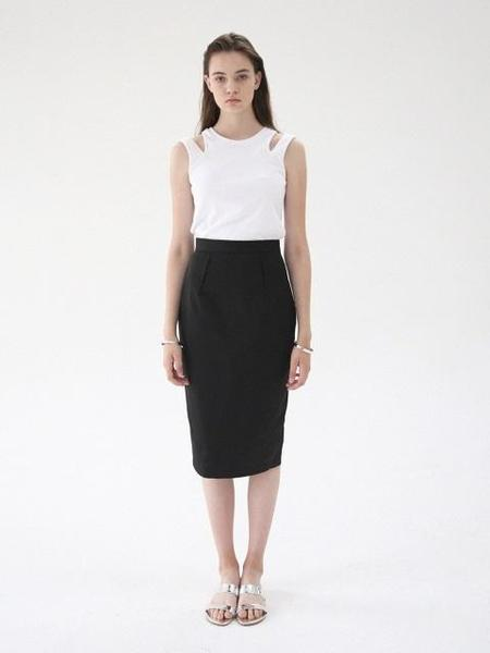 B SLASH B Darts Skirt - Black