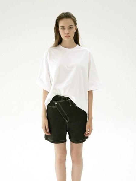 UNISEX B SLASH B Cross Over Shorts - Black