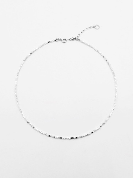 LOVE ME MONSTER Twinkle Hematite Necklace - Silver