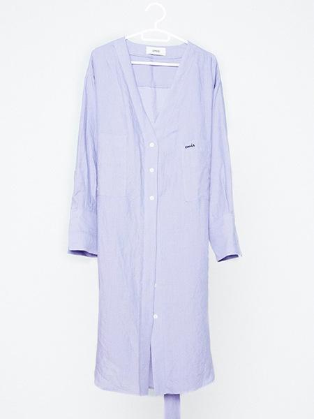 Unisex EMIS Linen Robe - Light Purple