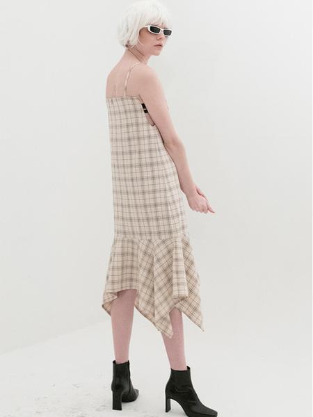 B ABLE TWO Asymmetry Open Dress - Beige