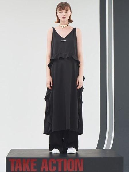 HOLY NUMBER 7 Reversible Maxi Dress - Black