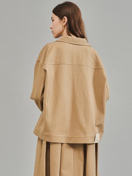 CO/RCA Over Twill Jacket - Beige/Black