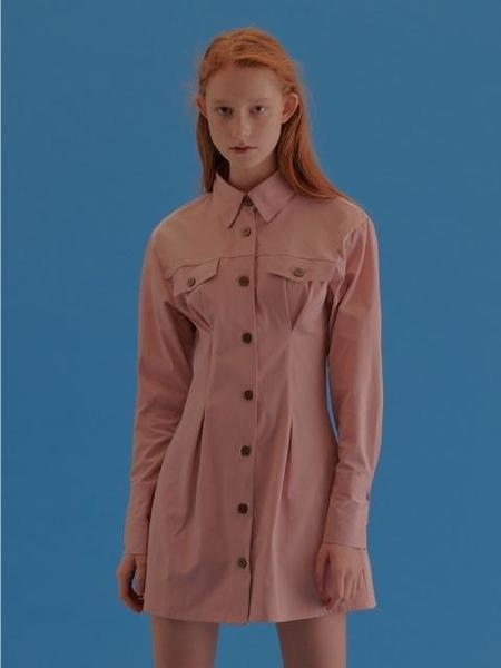CITYBREEZE Pin Tuck Dress - Pink