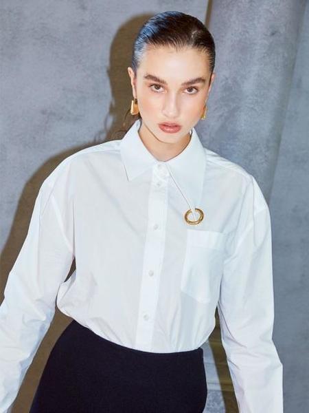 Happening Bodysuit Shirt - WHITE
