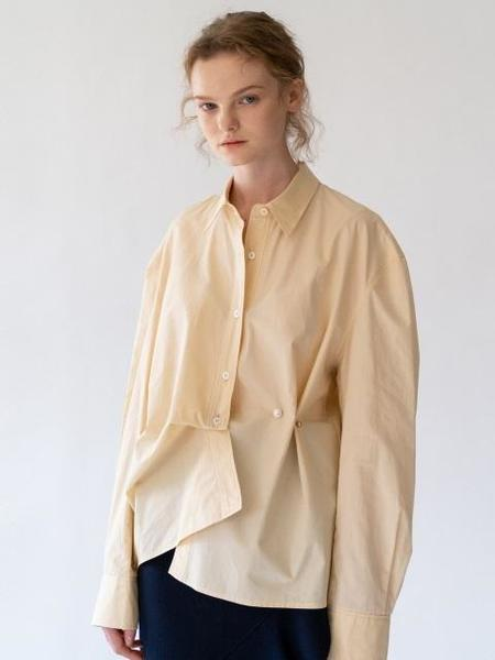 ANNE AND THE CRWD Pearl Link Shirt - Yellow