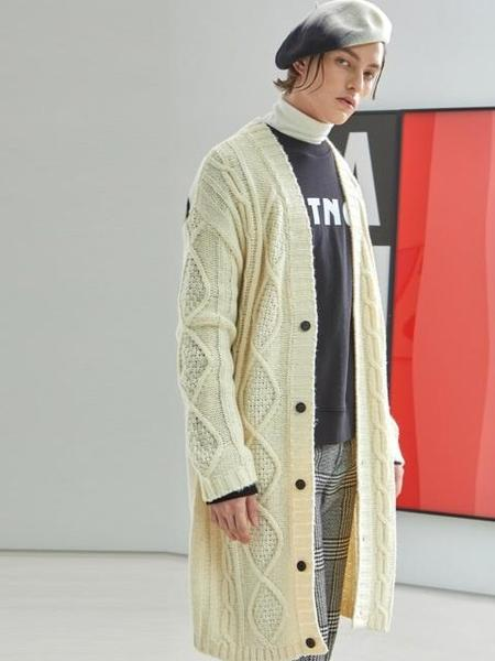 GENERAL IDEA STANDARD Cable Long Cardigan - Ivory