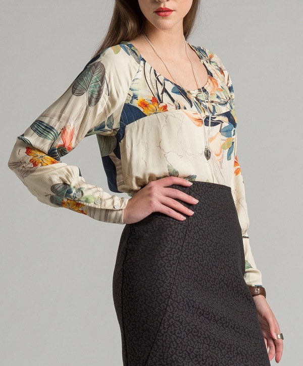 Allison Wonderland Notebook Blouse