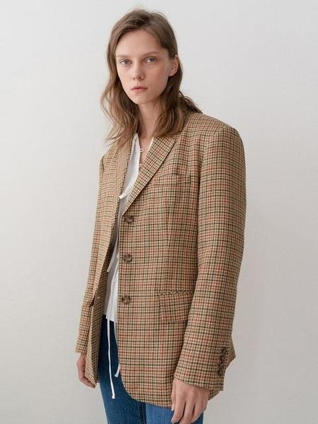 GROVE Exclusive Bella Jacket - Red Check