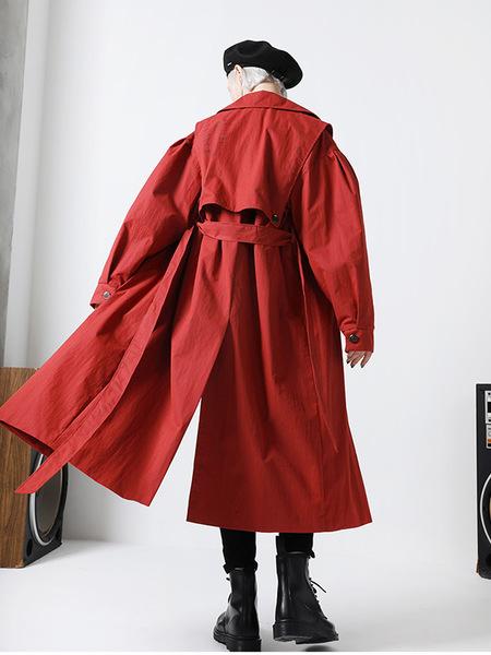 MIGNONNEUF Handmade Trench Coat - Red