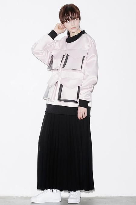 ROCKET X LUNCH Pleated Maxi Skirt- Black