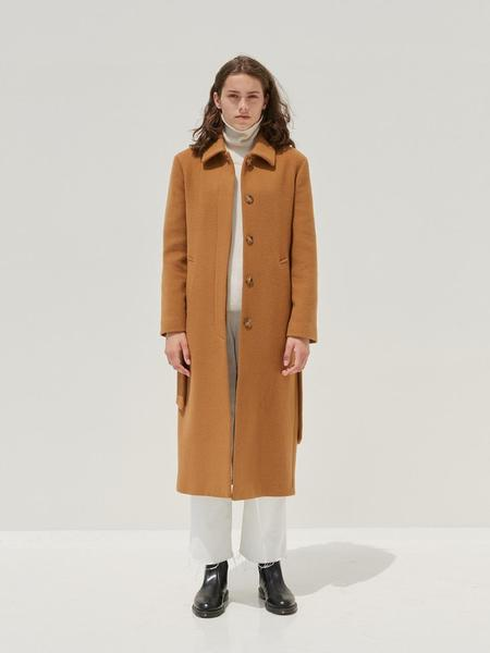 CURRENT Belted Mac Coat - Beige