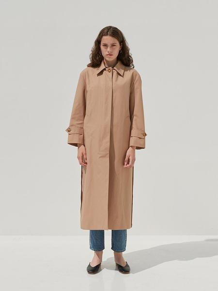 CURRENT Long Single Trench Coat - Beige