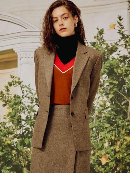 Frontrow Checked Cashmere Blend Jacket - Dark Brown/Light Brown