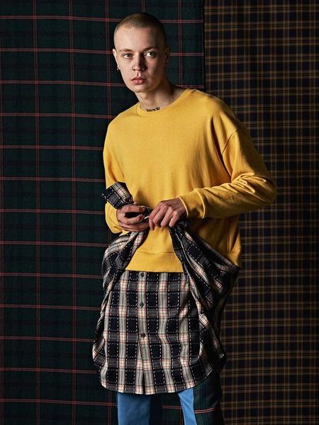 DBSW Layered Shirt Sweatshirt - Yellow