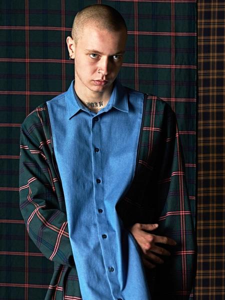 DBSW Zip Off Check Shirt - Blue
