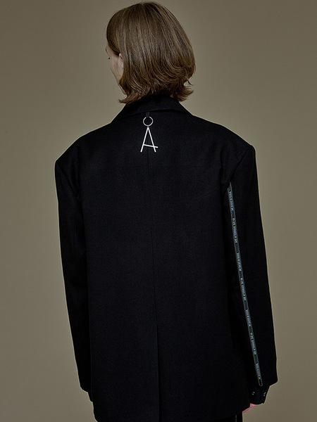 ADD Afterimage Taping Blazer - Black