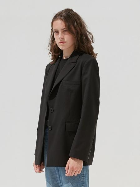 CURRENT One Button Blazer - Black