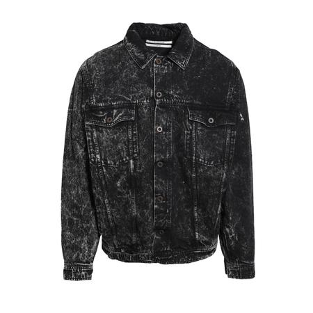 Robert Geller Acid Washed Denim Jacket - BLACK
