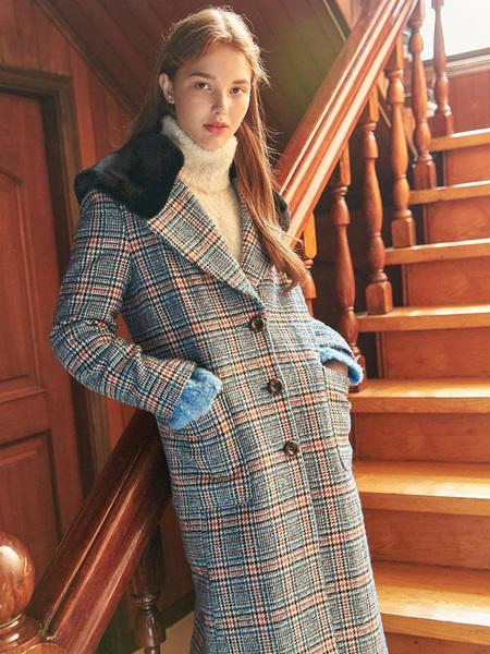 Vintage DEBB Check Coat - Blue