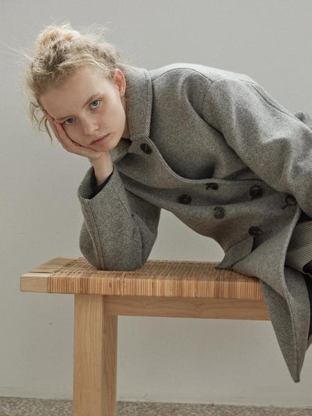 ISSUE NUMBER 1 2 Bella Coat - Gray/Beige