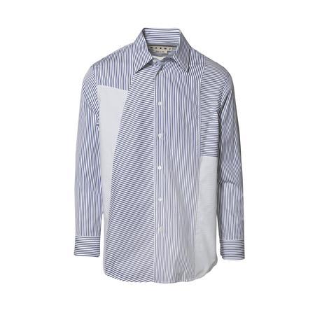 Marni Long Sleeve Sport Shirt - Fine Blue Stripes