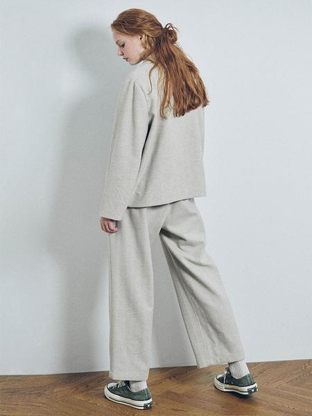 HIDDEN FOREST MARKET Herringbone Wool Button Pants - Brown/Oatmeal