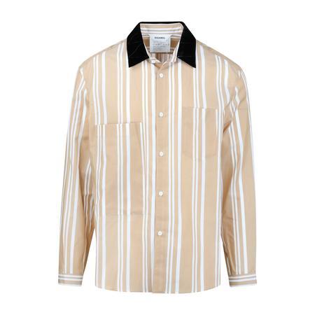 Digawel Velvet Collar Shirt - BEIGE