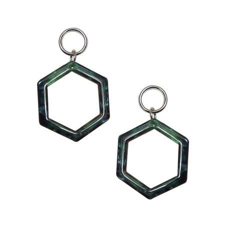 Strut Jewelry Lucite Hexagon Earrings