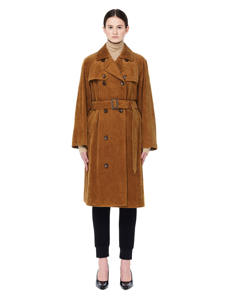 Sue Undercover Double Breasted Corduroy Coat - Brown
