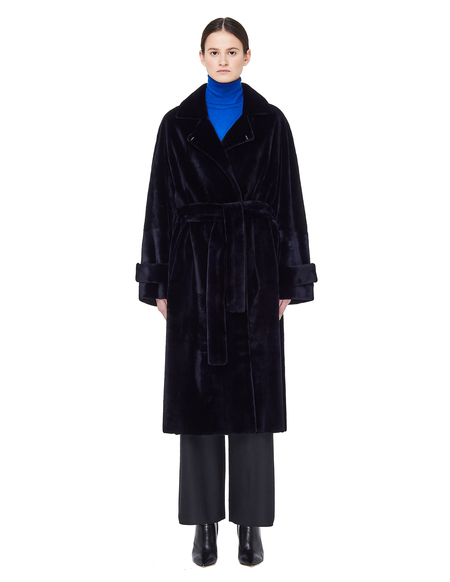 32 Paradis Mink Fur Torrent Coat - Navy