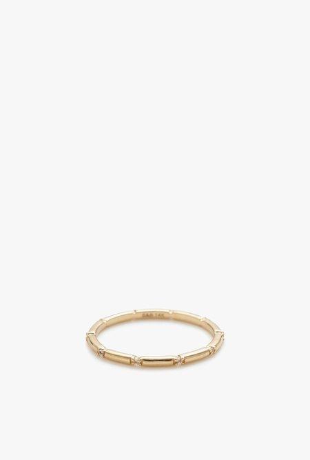 Stella and Bow Emily White Topaz Ring - 14k Gold