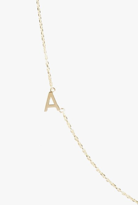 amarilo Sideways Initial Necklace - 10k Gold
