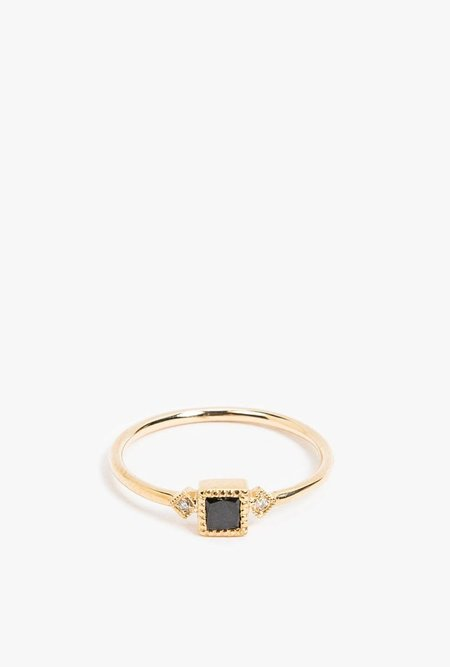 Jennie Kwon Square Sotto Voce Ring - 14k Gold