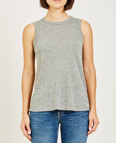 AR321 OATMEAL MUSCLE TEE - HEATHER GREY