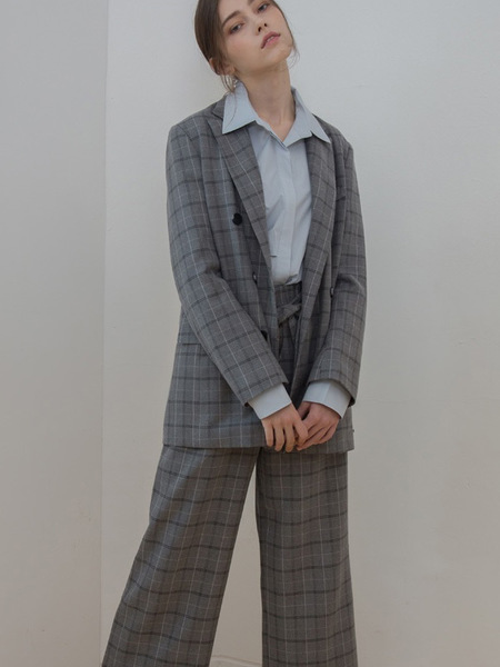 COVERS Check Double Jacket - Grey