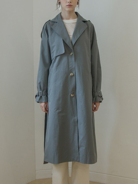 COVERS Single Belted Trench Coat - Grey