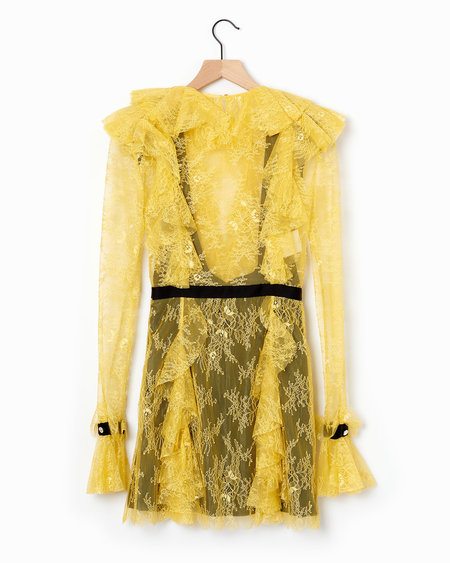 Philosophy di Lorenzo Serafini Lace Organza Dress - Yellow