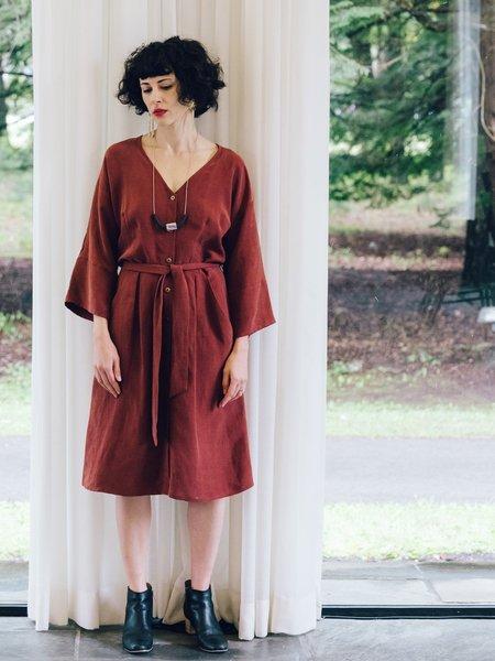 Eve Gravel Les Deux Voix Dress - Maroon