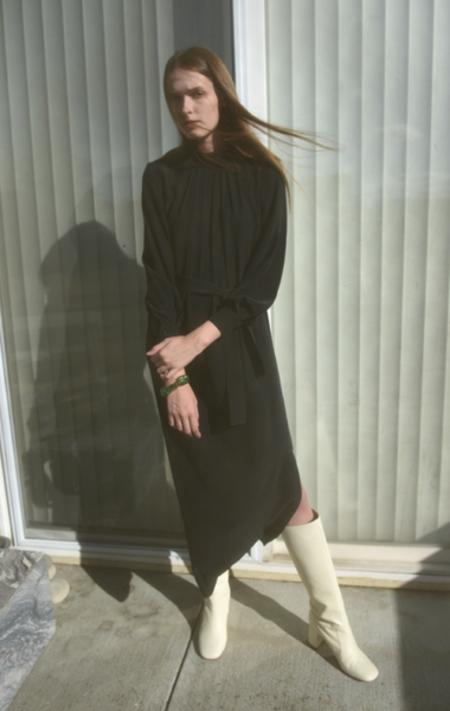 Waltz Silk Dress - Black
