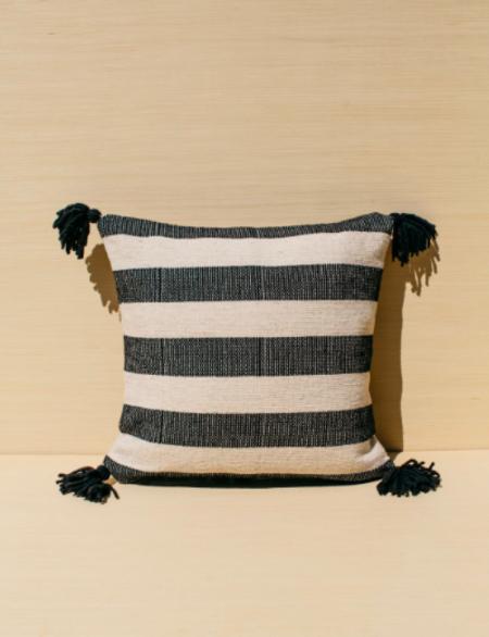 Territory Ancho Stripe Pillow - Black
