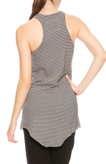 Tee Lab By Frank & Eileen Stripe High Neck Tank - Dime Stripe