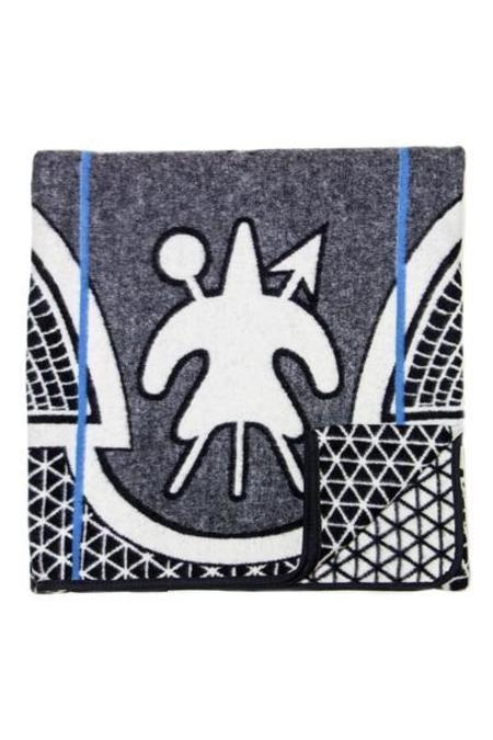 Aranda Textile Mills Black Kharetsa Spiral Aloe Basotho Heritage Blanket