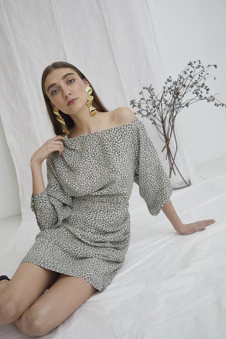 WHiT Dara Dress - Energy Print