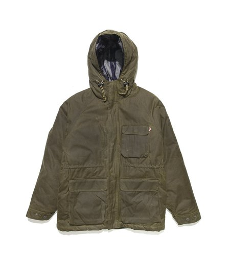 Freemans Sporting Club Isle of Man Down Wax Jacket - Olive